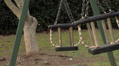 Lonely Swing Swaying - stock footage