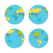 Planet Earth with Countries Vector Illustration Piirros