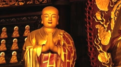 Exterior of the Buddha image at the Big Wild Goose pagoda in Xian, China. Stock Footage