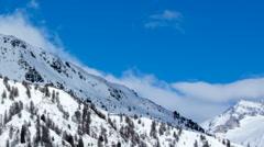 Mt. Blauspitze winter timelapse Stock Footage