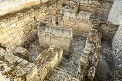 Ancient ruins of the Treasury in Chersonesus Taurica - stock photo