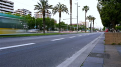 Time lapse of the traffic on Diagonal street in Barcelona, Spain Stock Footage