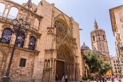 VALENCIA -JUNE 24: Part of the Cathedral of Valencia, on June 24 2016 in Vale - stock photo