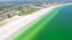 Aerial Shot of The Stunning Siesta Key Beach - Florida Stock Footage
