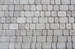 Stone paving texture. Abstract pavement background - stock photo