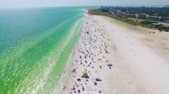 Aerial Video of The Stunning Siesta Key Beach - Florida Stock Footage