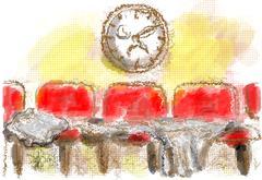 Waiting room Stock Illustration