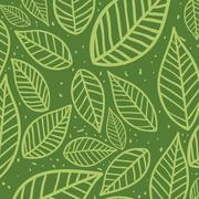 Leaves background. Nature design. Vector graphic Stock Illustration