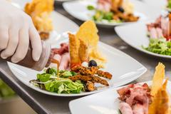 Plate of appetisers Stock Photos