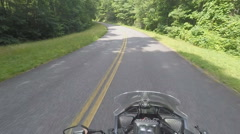 Motorcycle Rider POV in Tennessee Mountains Stock Footage