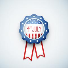 4th of july American independence day badge Stock Illustration