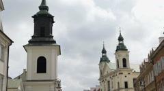 Beautiful white churches Stock Footage
