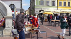 Busy day in the city center of a large city Stock Footage