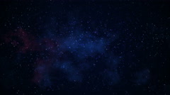 Slowly blinking stars galaxy in space seamless loop 4k (4096x2304) Stock Footage