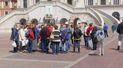 Tourists in the main square Stock Footage