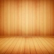 Wood floor and wall background Stock Illustration