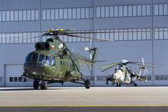 OSTRAVA, CZECH REPUBLIC - SEPTEMBER 22: Polish Mi-8T helicopter prepares for Stock Photos