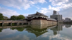 Hiroshima Castle Moat and Gate Footage Stock Footage