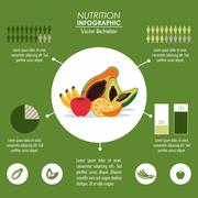 Infographic icon. Nutrition design. Vector graphic Stock Illustration
