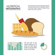 Infographic icon. Nutrition design. Vector graphic - stock illustration