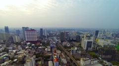 Dramatic Bangkok Cityscape in Timelapse on a Cloudy Day - stock footage