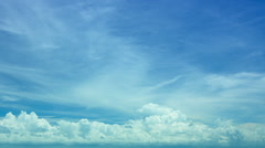Blue sky day video background with white clouds Stock Footage