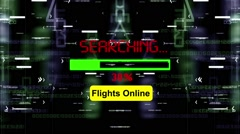 Searching for flights online Stock Footage