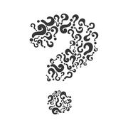 Question mark icon. Doubt design. Vector graphic Stock Illustration