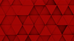 Red triangles extruded background 3D render loopable 4k UHD (3840x2160) Stock Footage