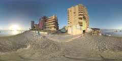 4K 360VR video, Spain La Manga unique sea foreland resort views. Stock Footage