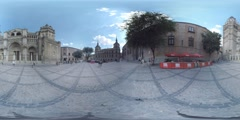 4K 360VR video, Spain architecture ancient Toledo Cathedral Square. Stock Footage