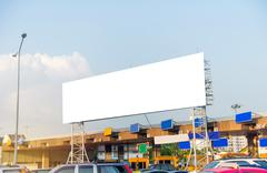 Blank billboard for advertisement  in Toll collecting on the expressway Stock Photos