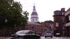 Maryland State House, Annapolis Stock Footage