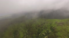 Aerial Mountains on the island of Maui Stock Footage