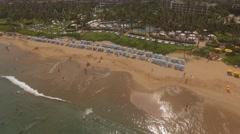 Aerial Wailea Beach, Kihei, Hawaii Stock Footage