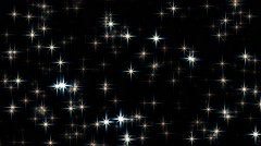 Fast Sparkling Twinkling Stars Abstract Motion Background Loop Stock Footage