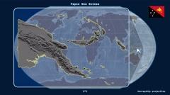 Papua New Guinea - 3D tube zoom (Kavrayskiy VII projection). Bumps Stock Footage