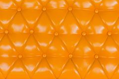 Yellow sofa upholstery leather pattern for background Stock Photos