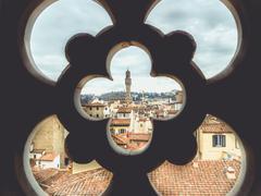 Italy Florence cityscape with Palazzo Vecchio Stock Photos