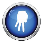 Baseball catcher gesture icon Stock Illustration