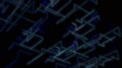 Glowing abstract streaking geometric formations VJ loop - stock footage