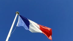 French flag waving Stock Footage