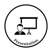 Coach businessman icon - stock illustration