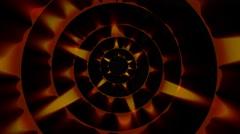 Orange Audio Waves on a Black Background Stock Footage