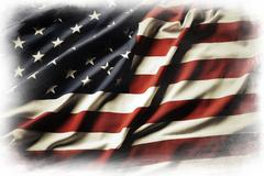 American flag on plain background Stock Illustration