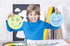 Smile or grin? Stock Photos