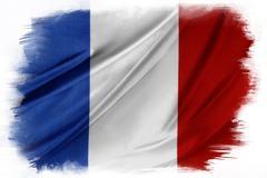 French flag on plain background Stock Illustration