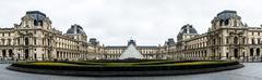 Musee de Louvre - Paris, France Stock Photos