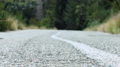 Winding Road shot from the Ground Stock Footage