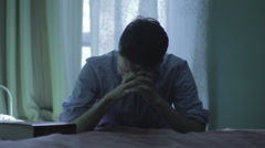 Man Prays to god (close-up) Stock Footage